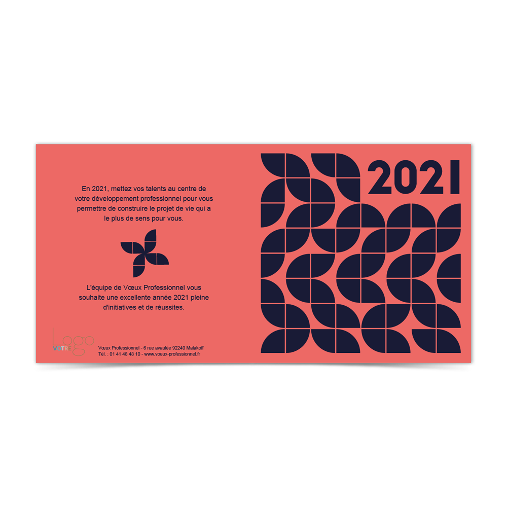 Carte de Voeux Virtuelle 2021 Statique - Innover Rose