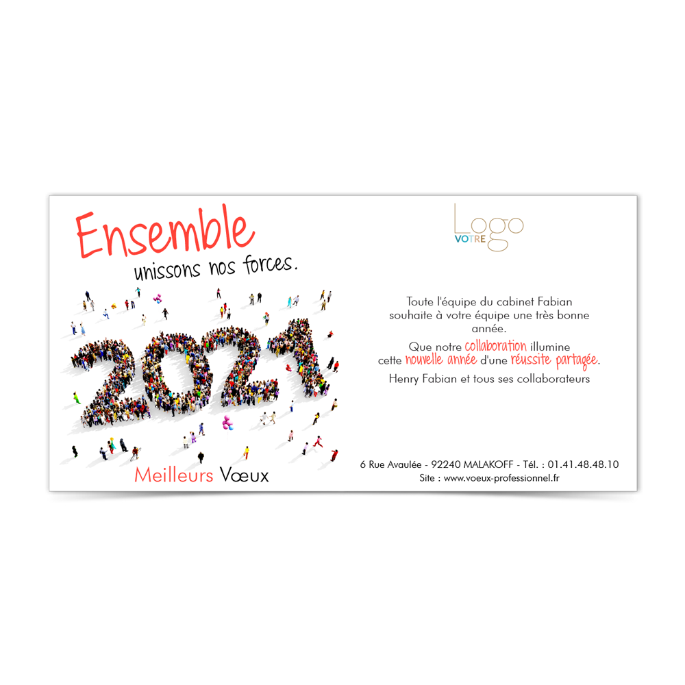 Carte de Voeux Virtuelle 2021 Statique - Ensemble