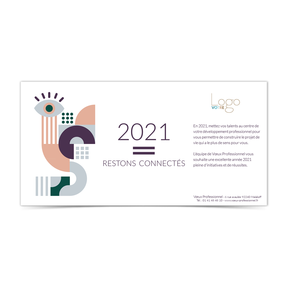 Carte de Voeux Virtuelle 2021 Statique - Communication
