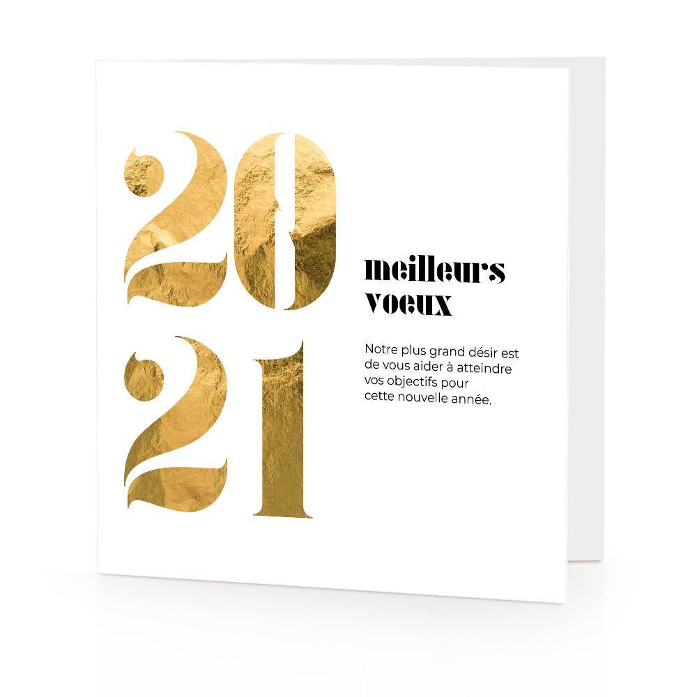 Carte De Voeux 2021 Et Calendrier 2021 Pour Entreprises Voeux Professionnel