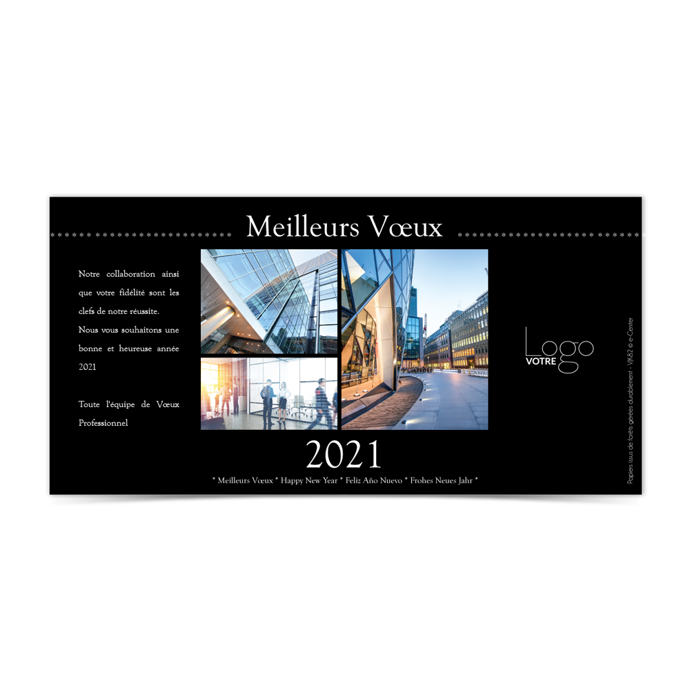 Carte de Voeux Virtuelle 2021 Statique - Avec Photo
